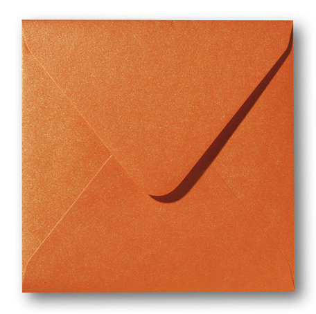 Metallic orange glow 16 x 16 cm