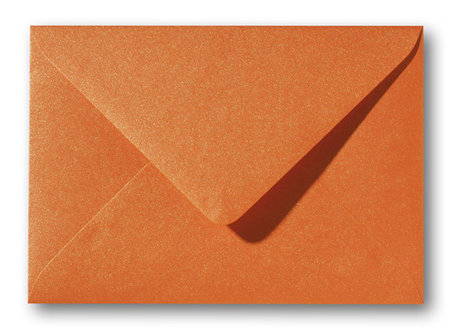 Metallic orange glow 11 x 15,6 cm